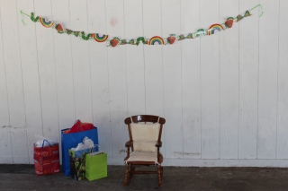 Chair and presents